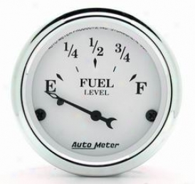 Auto Meter Old Tyme White Fuel Level Gauge