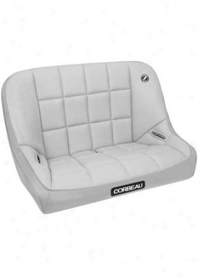 Corbeau Baja Bench 36 Inch Grey Vinyl/cloth