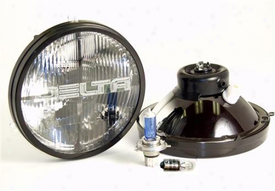 Delta Industries 7� Round Quad Bar Headlight Kit, Xenon Hyper White By Delta 01-1199-50x