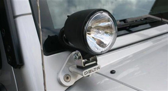 """delta Industries Delta T-bracket """"bullet"""" 300  Kit - Hid Search Lights W/brackets For Jeep  Tj 01-9532-hidt"""