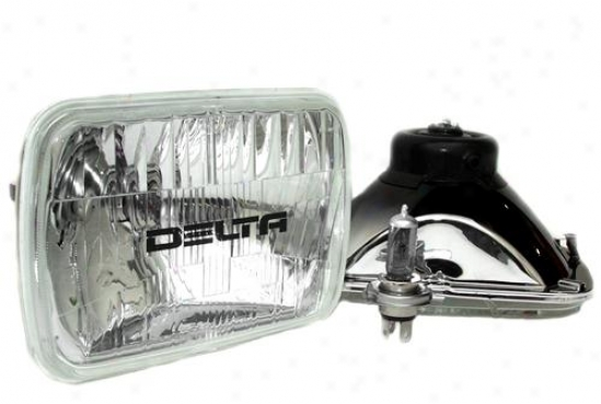 Delta Industries aHlogen H4 Rctangular Headlight Kit Near to Delta 01-1249-50