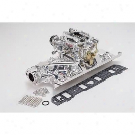 Edelbrock Single-quad Manifold And Carb Kit