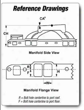 Edelbrock Victor 351-y For 4500 Succession Intake Manifold