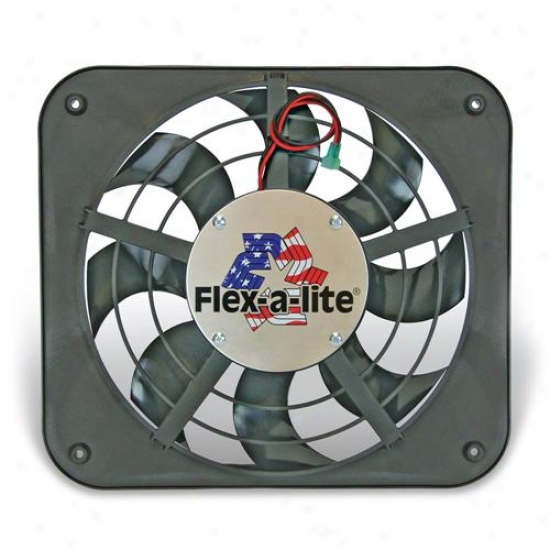 Flex-a-lite Lo-profile S-blade Electric Fan