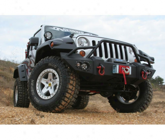 Jeep Jk Lifesttle Winch Bumper With Pre-runner Grill Guard
