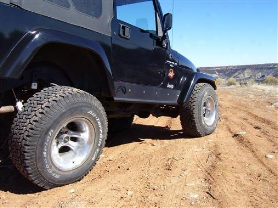 Jeep Tj Rock Sliders Without Tube By Fab Fours