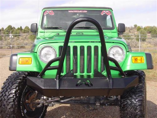 Jeep Tj/lj Hardcore Winch Bumper With Broil Convoy By Fab Fours