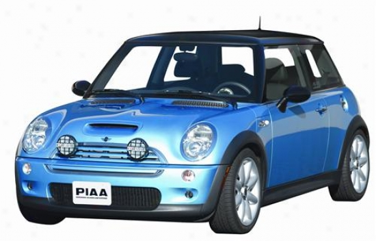 Piaa Lights 2006-2008 Mini Cooper Above Bumper, Rally Style Light Mounting Kit