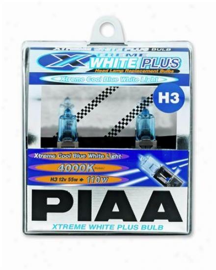Piaa Lights H3 55w=110w Super Plasma Gt-x Bulb, Twun Pack