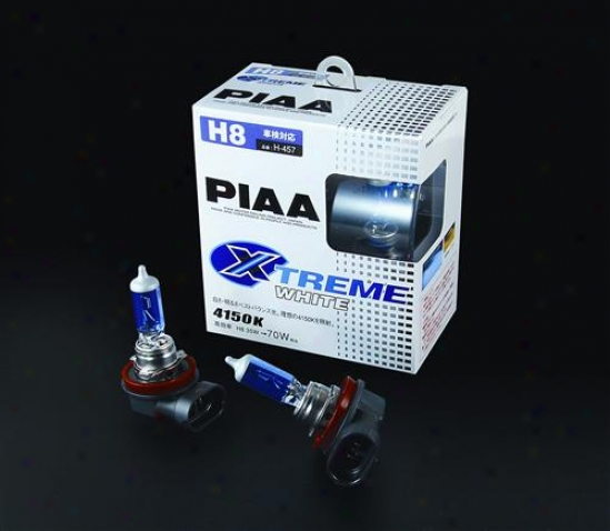 Piaa Lights H8 Xtrem eWhite Plus 35w=70w Bulb, Twin Pack