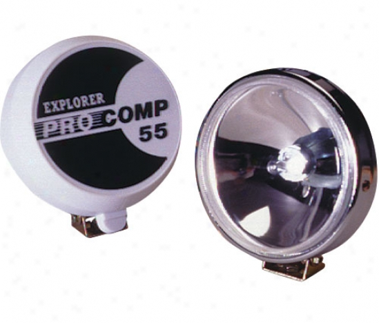 Pro Comp 5 55 Watt Quartz Halogen Spot Light-stainless Fluted