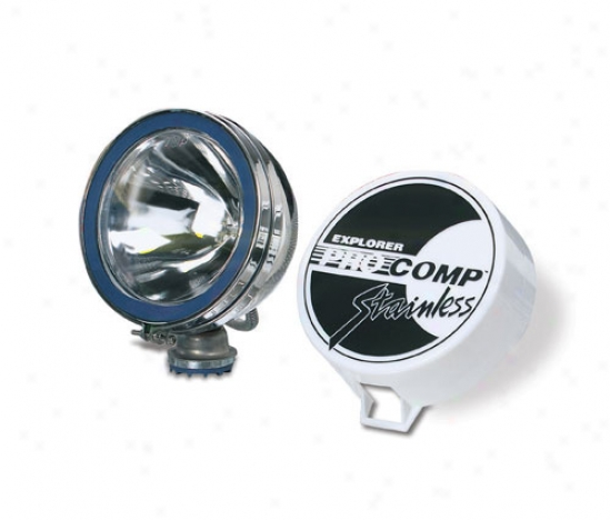 Pro Comp 6 130 Watt Quartz Halogen Driving/spot Light-stainless