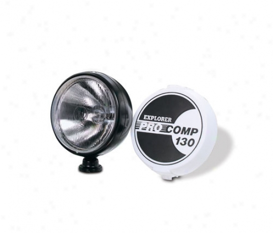Pro Comp 8 130 Watt Quartz Halogen Driving/spot Light-chrome