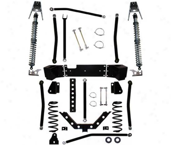 Rock Krawler 3.5␝ X-factor Plus Comp Long Arm Suspension System By Rock Krawler Jk350054