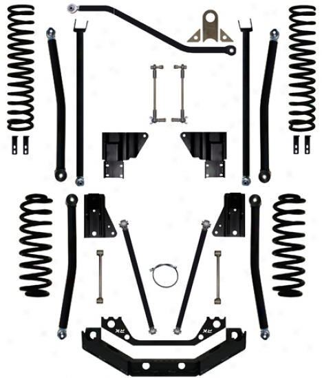 Rock Krawler 4.5␝ Triple Menace Long Arm Suspension System By Rock Krawelr Wj450001