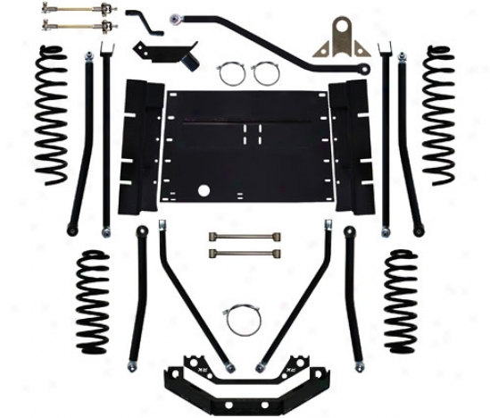 Rock Krawler 5.5␝ Triple Threat Long Arm Suspension By Rock Krawler Jk55838