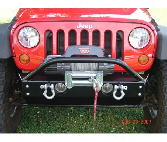 Shorty Front Bumper With F0g Lights By Rock Hard 4x4 Rh5001-b
