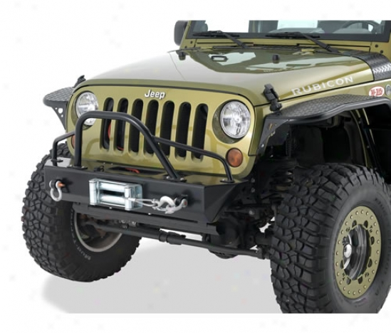 Warrior Products Stubby Front Rock Crawler Bumper With Hidden Winch Mount And D-rings By Warrior 597